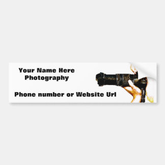 Photographer Holding DSLR Camera Bumper Sticker