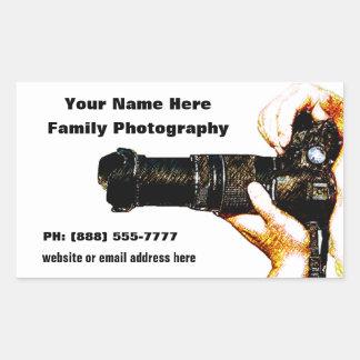 Photographer Holding DSLR Camera Rectangle Sticker