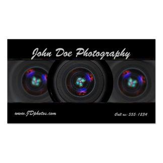 Photographer lens business card