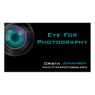 Photographer Lens Business Card Template