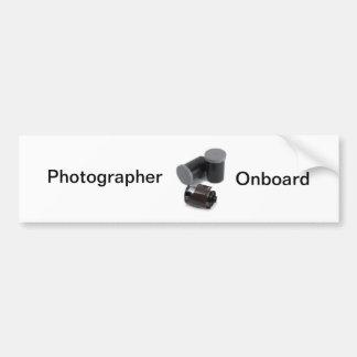 Photographer Onboard Bumper Sticker
