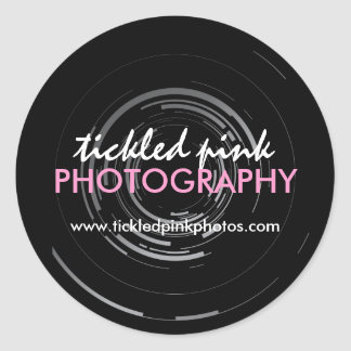 Photographer packaging Labels Round Sticker