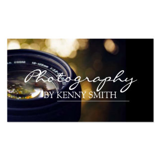 Photographer Photography Camera Lens Portrait Pack Of Standard Business Cards