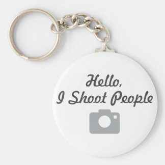 Photographer promotion- hello I shoot people Key Chain