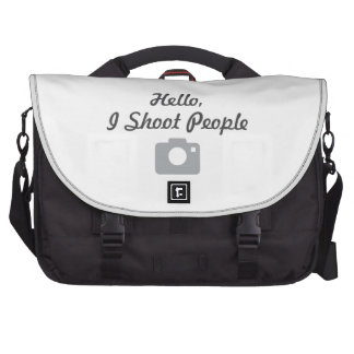 Photographer promotion- hello I shoot people Laptop Messenger Bag