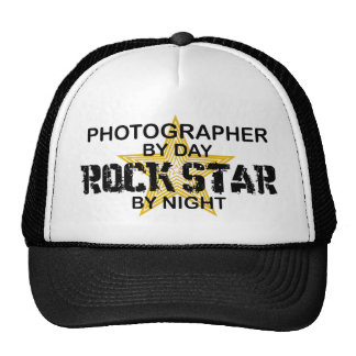 Photographer Rock Star by Night Mesh Hats