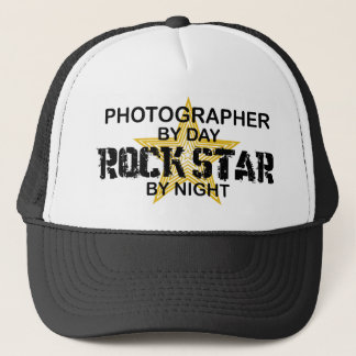 Photographer Rock Star by Night Trucker Hat