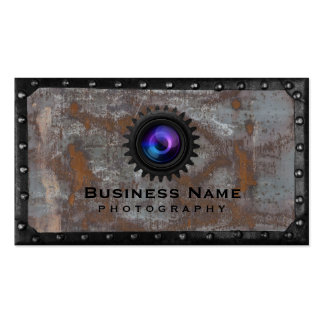 Photographer Rusty Metal Framed Photography Pack Of Standard Business Cards
