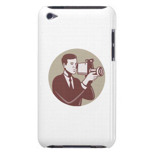 Photographer Shooting Video Camera Retro iPod Case-Mate Case