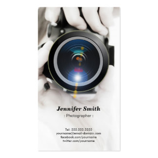 Photographer - Show your best photo on the back Pack Of Standard Business Cards
