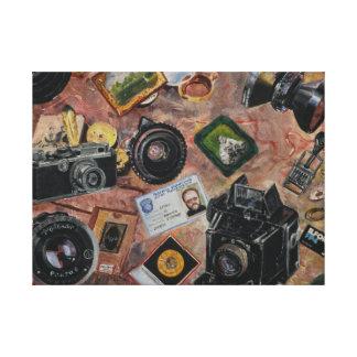 photographer table canvas print