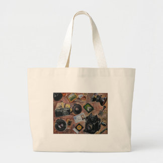 photographer table large tote bag