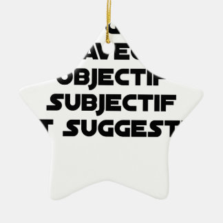 Photographer with subjective and suggestive ceramic ornament