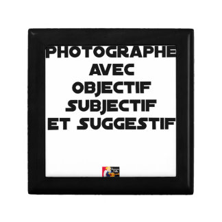 Photographer with subjective and suggestive gift box