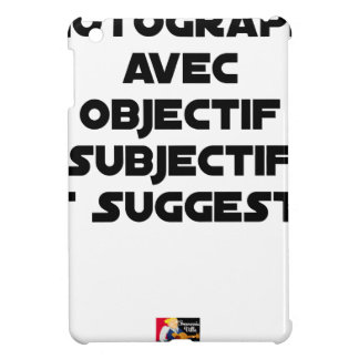 Photographer with subjective and suggestive iPad mini covers