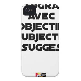 Photographer with subjective and suggestive iPhone 4 Case-Mate case