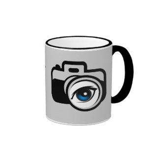 Photographers always keep things in focus ringer mug