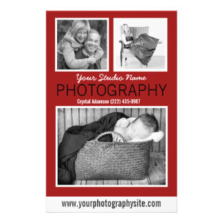 Photographer's Business Handout with Three Photos 14 Cm X 21.5 Cm Flyer