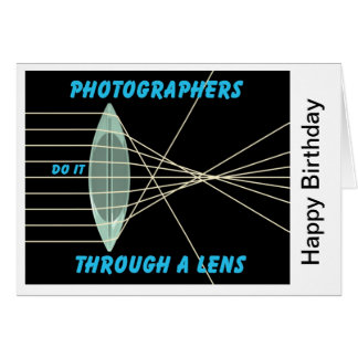 photographers do it thru a lens card