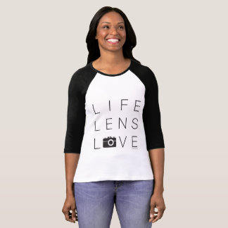 Photographers Raglan Sleeve   Life Lens Love T-Shirt