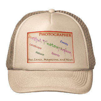Photographers with transparent background cap