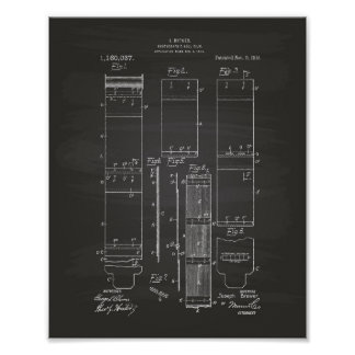 Photographic Roll Film 1915 Patent Art Chalkboard Poster