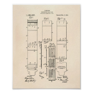 Photographic Roll Film 1915 Patent Art Old Peper Poster