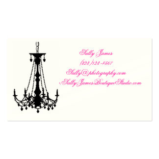 photography business card Chandelier Damask