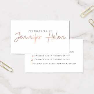 Photography by Jennifer Helen Business Card