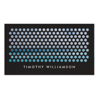 PHOTOGRAPHY CIRCLES PATTERN in BLACK Horizontal Business Card