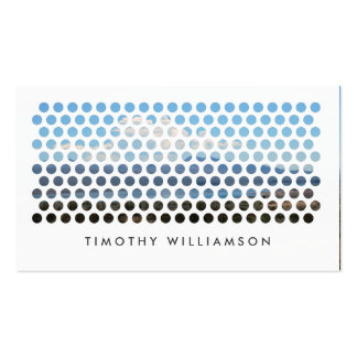 PHOTOGRAPHY CIRCLES PATTERN in WHITE (Horizontal) Pack Of Standard Business Cards