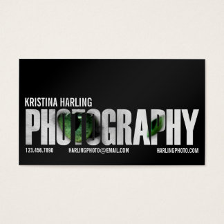 Photography Cutout - Black Business Card