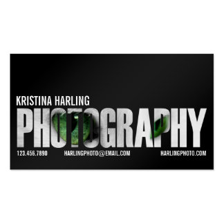 Photography Cutout - Black Pack Of Standard Business Cards