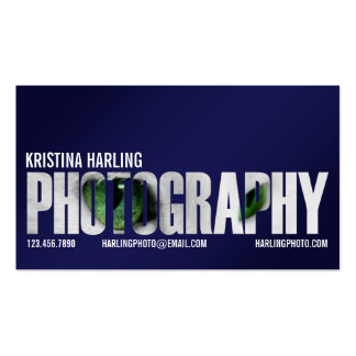 Photography Cutout - Blue Business Card Template