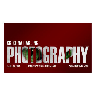 Photography Cutout - Red Business Card Templates