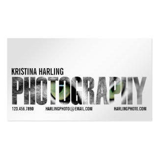 Photography Cutout - White Pack Of Standard Business Cards