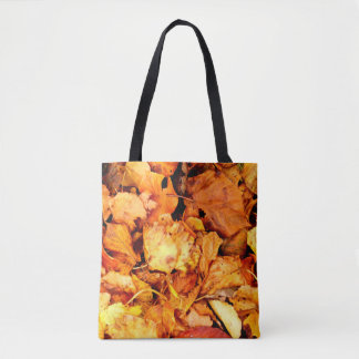 Photography - DRY AUTUMN LEAVES + your ideas Tote Bag