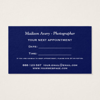 Photography Film Photos Photographer Appointmen Business Card