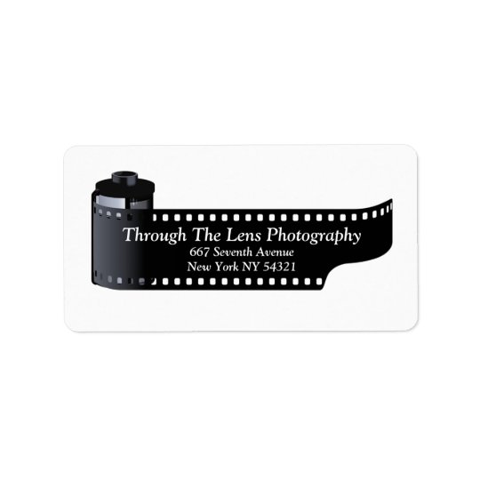 Photography Film Roll Photographer Minimal Address Label