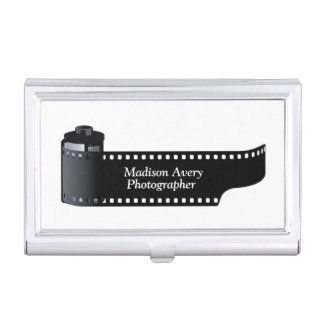 Photography Film Roll Photographer Minimal Business Card Cases