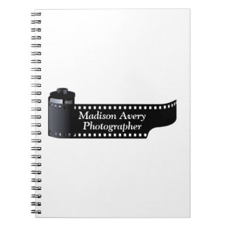 Photography Film Roll Photographer Minimal Note Book