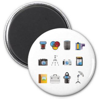 Photography Icon 6 Cm Round Magnet
