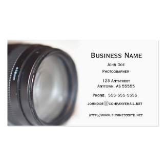Photography Lens Pack Of Standard Business Cards