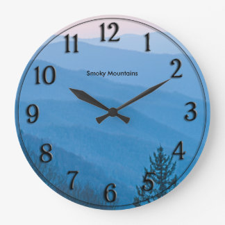 Photography Newfound Gap Smoky Mountain Sunrise Large Clock