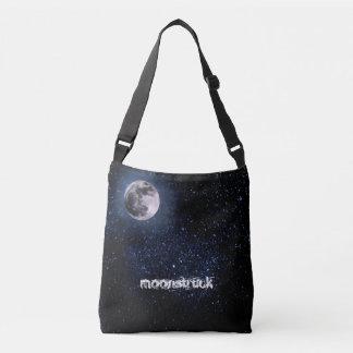 Photography - Night Sky with Full Moon + your idea Crossbody Bag