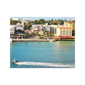 Photography of Nassau Bahamas, Boat, Senor Frogs Canvas Print