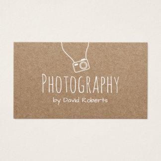 Photography Photographer Camera Rustic Kraft Business Card