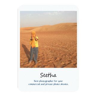 photography promo card 9 cm x 13 cm invitation card