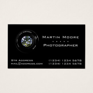 Photography services professional lens business card