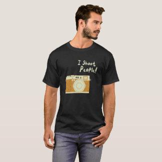 Photography T Shirt I Shoot People Vintage Camera